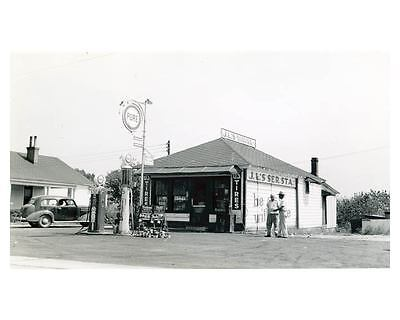 1941 Pure Oil Gas Station Factory Photo Leaksville NC Gas Globe Tiolene  ch2428