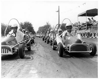 1956 ? Go Kart Goodyear Photo Poster Track Rabbit zc8589-TJ1BL5