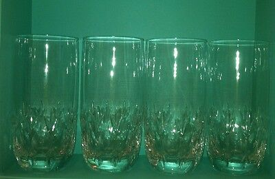 Mikasa Crystal ASCOT PARK Highball Glasses 4 EXCELLENT CONDITION