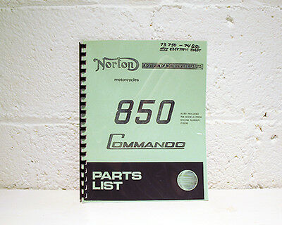 Norton Motorcycle Parts Manual - All Models Available - 1963 through 1975