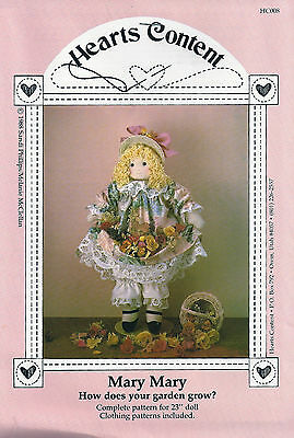 """Doll Sewing Craft Pattern for 23"""" Doll and Doll Clothing - Vintage Heirloom Mary"""