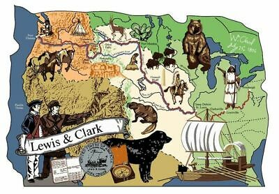 Cat's Meow Village Scene Lewis & Clark Trail #MW6344 NEW Exclusive SHIPPING DISC