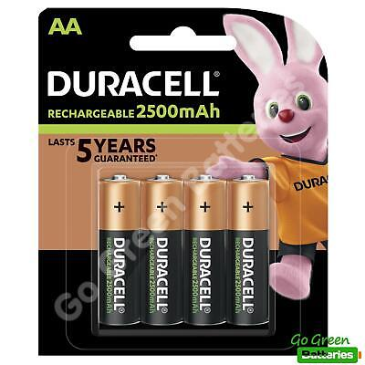 4 x Duracell AA 2500 mAh Rechargeable ULTRA Batteries, NiMH HR6 MN1500 Duralock