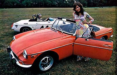1971 MG MGB Factory Photo c1815-4AA6ZB