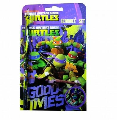 Teenage Mutant Ninja Turtles Scribble Set Stationery Brand New Gift