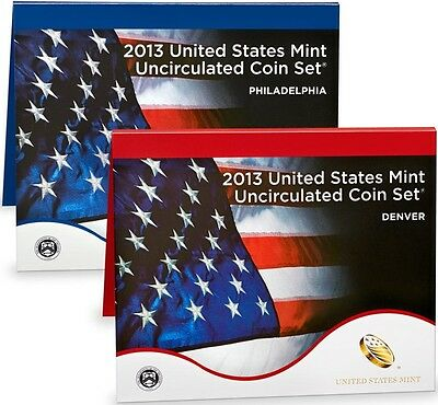 2013-P&D UNCIRCULATED 28 COIN MINT SET w/COA & UNOPENED BOX