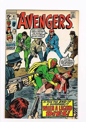 Avengers # 81  When a Legend Dies ! grade 8.5 Movie super scarce hot book !!