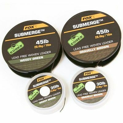 Brand New Fox Edges Submerge Lead Free Leader - All Types Available.