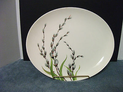 W.S.GEORGE PLATTER CO791 PUSSYWILLOW DINNER TABLE COLLECTIBLS VINTAGE '50