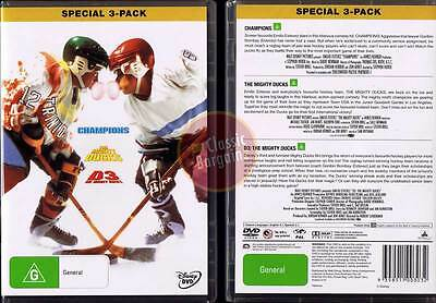 Champions / D2: The Mighty Ducks / D3: The Mighty Ducks Emilio Estevez 3-DVD NEW