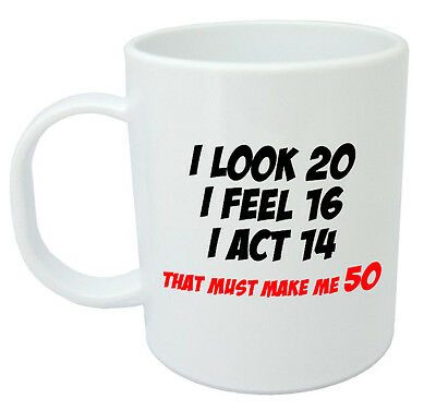 Makes Me 50 Mug Funny 50th Birthday Gifts Presents For Men Women Gift Ideas 7 99 Picclick Uk