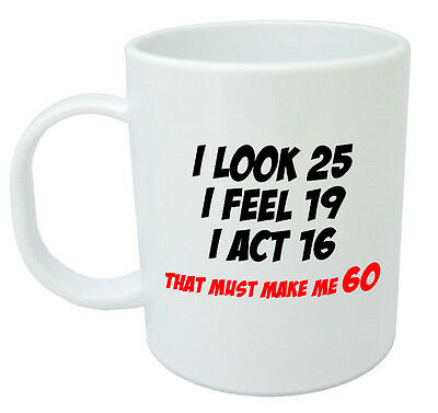 60 Officially A Mug Funny Novelty 60th Birthday Gifts For Men