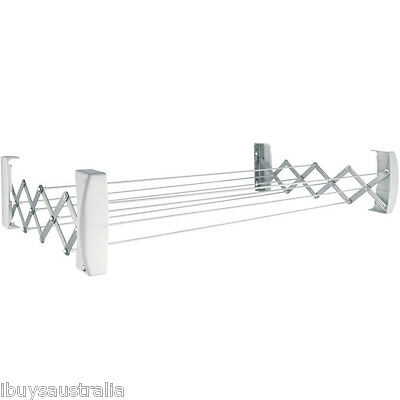 Leifheit Wall Mounted Teleclip 100 Clothes Airer / Dryer - New Model GLN83304