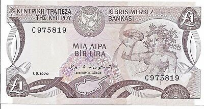 1979 Central Bank of Cyprus 1 Pound Uncirculated Note; P 46;  Bellapais Abbey