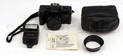 Ouyama 2000H 35 mm Film Vintage Camera with Flash and Black Carrying Bag