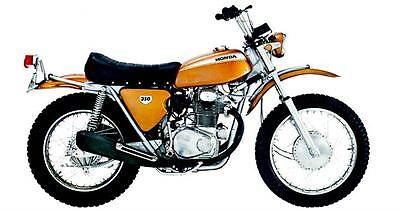 1970 Honda SL350 Motorcycle Factory Photo c262-3W8BTY