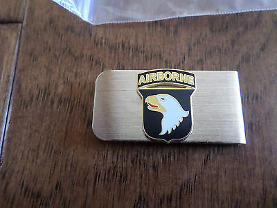 U.s Military Army 101St Airborne Division Metal Money Clip  U.s.a Made