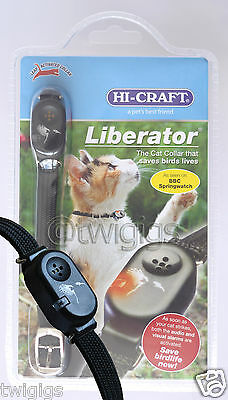 NEW Hi-Craft Liberator Cat Collar Bird Wildlife Saving Leap Activated Alarm Cats