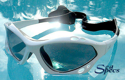 SeaSpecs Polarized White Lightning Water Sport Sunglasses FREE CASE + STICKER!