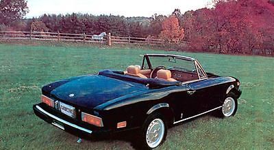 1974 1975 Fiat 124 Spider Factory Photo c280-LXU3H1
