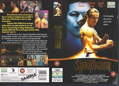 Shootfighter, Bolo Yeung VHS Video Promo Sample Sleeve/Cover #8614