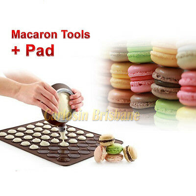 A Set for Macaron Kit Baking Tray Mat Cake Decorating Bakeware Container Nozzles