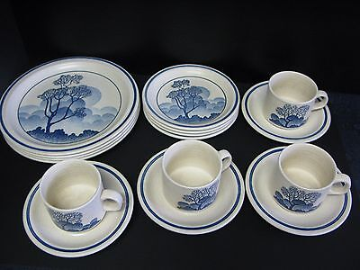 "16 Piece Homespun Stonecast By Churchill ""safari"" Dinner Set"