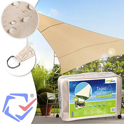 SHADE SAIL - TRIANGLE 5x5x5m, colour: Cream sail, sun visor protection UV rays