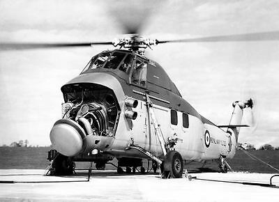 1950s Wessex Naval Helicopter Photo Royal Navy c4175-MROWW7