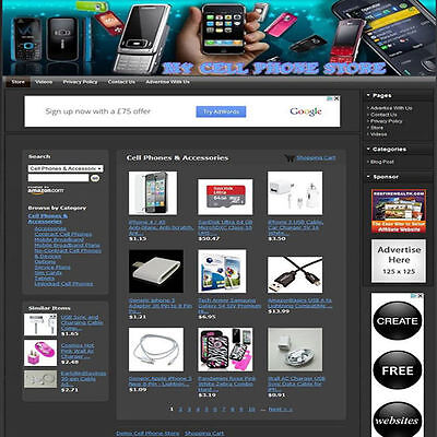CELL PHONE STORE - Website Business For Sale + FREE Hosting + FREE Domain Name!