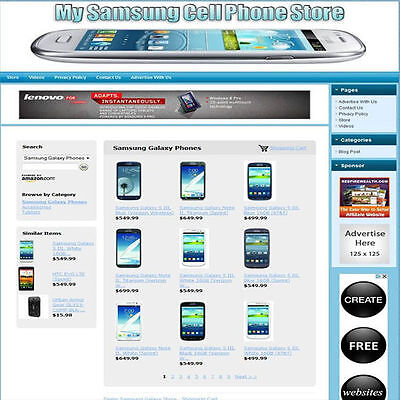 SAMSUNG GALAXY STORE - Easy To Operate, Highly Profitable Internet Business Site