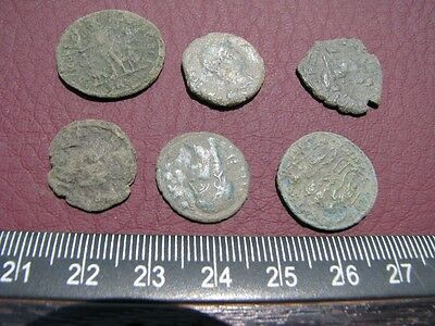 6 HQ Ancient Roman coins + 4 oz. Mint State Restoration Coin Cleaner MSR 070