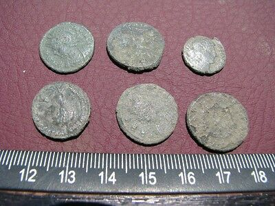 6 HQ Ancient Roman coins + 4 oz. Mint State Restoration Coin Cleaner MSR 069