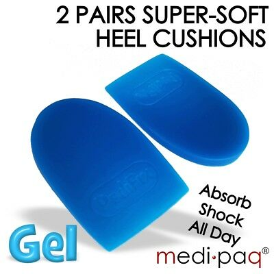2x Pairs Gel Heel Support Cushions - Cup Massage Pain Arthiritis Spur Plantar
