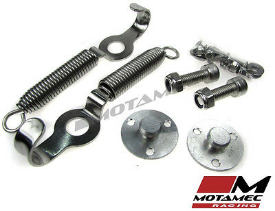 Motamec Racing Boot Bonnet Spring Fasteners Clips Fittings Stainles Steel Chrome