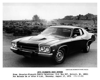 1973 Plymouth Road Runner Factory Photo c4667-97HMTI