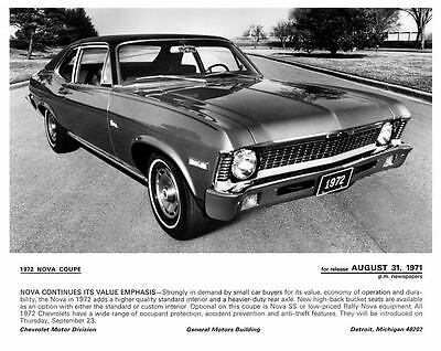 1972 Chevrolet Nova Factory Photo c4805-MJ9D4B