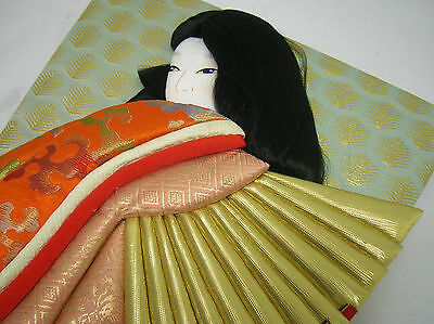 Traditional Japanese Doll Ningyo 3 Dimensional Padded