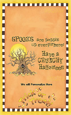 Halloween Microwave Popcorn Wrapper Personalized  Spooky Tree Party Favor