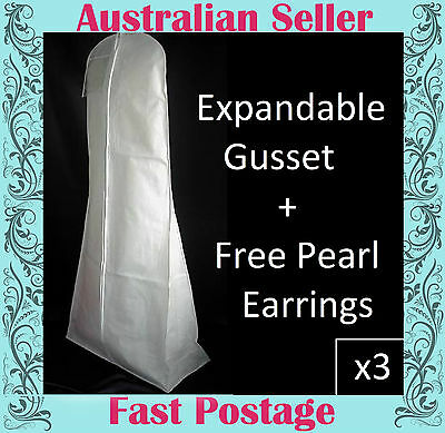 Wedding Dress Storage Bags x 3  Breathable XL  EXPANDABLE GUSSET THE DIFFERENCE
