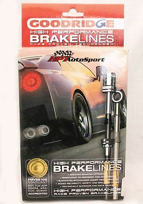 GOODRIDGE G-STOP STAINLESS STEEL SS BRAKE LINES 06-12 CHEVROLET CORVETTE Z06