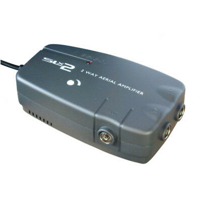 2 WAY TV BOOSTER / AERIAL AMPLIFIER For Freeview & Digital 4G Ready SLX 27822HSG