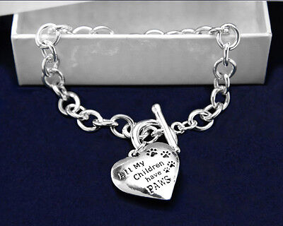 Lot of 10 All My Children Have Paws Bracelets