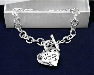 Lot of 12 All My Children Have Paws Bracelets