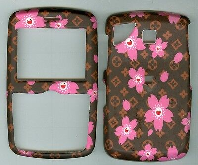 Brown Pink Flower HARD COVER CASE PANTECH REVEAL C790 AT&T