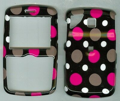 Black Grey Pink Dot  HARD COVER CASE PANTECH REVEAL C790 AT&T