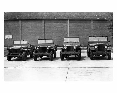 1940 1945 1950 1964 Willys Military Jeep MA MB M38 M38A1 Factory Photo c5818-JTJ
