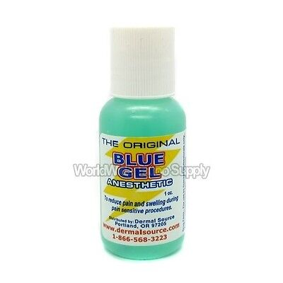 BLUE GEL 1 oz Anesthetics Gel Pain Relief Treatment for Tattoo Supply