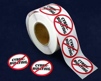 Lot of 500 No Cyber Bullying Stickers