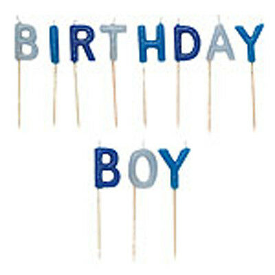 Blue  Birthday Boy Candles  New For Birthday Cake, Special Occasions